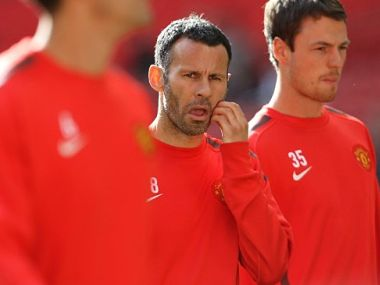 File picture of Ryan Giggs (c). AFP