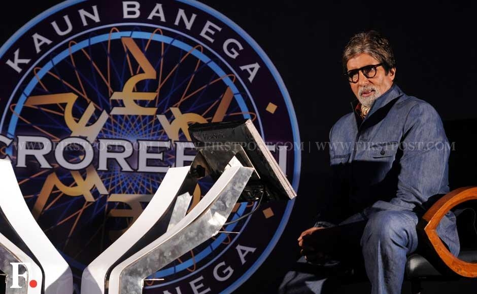 Amitabh Bachchan sitting next to the hot seat of Kaun Banega Crorepati 6. Sachin Gokhale/Firstpost