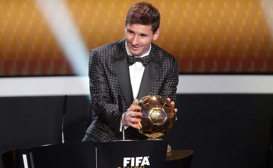 Messi said it was 'unbelievable' to win a fourth FIFA Player of the Year award. Getty Images