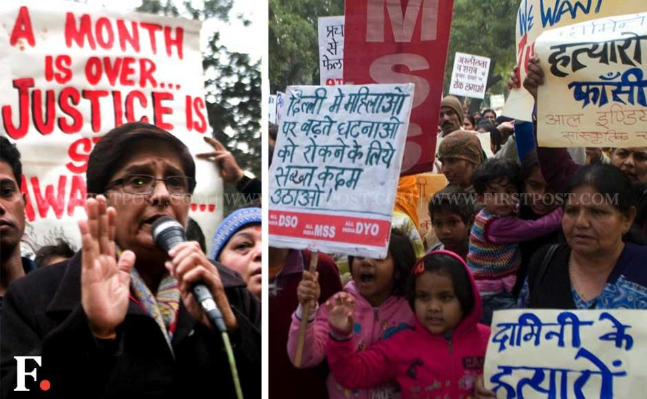 Kiran Bedi protests against the Delhi gangrape at Jantar Mantar. Naresh Sharma/Firstpost