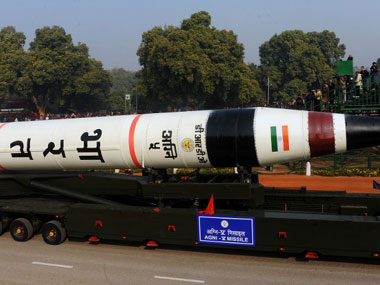 India's Agni V Missile. AFP