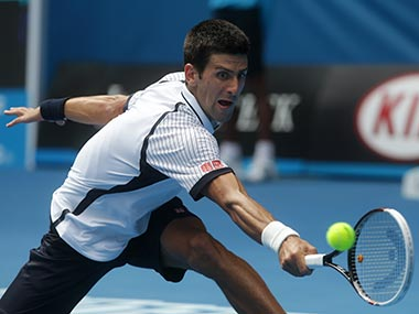 Djokovic won in straight sets but it wasn't easy. AP