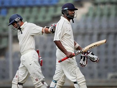 Wasim Jaffer (R) is once again the leading run scorer in Ranji Trophy history. PTI