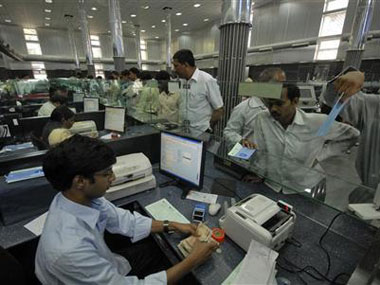 Representational Image of a bank counter. Reuters