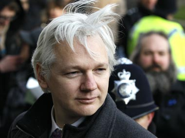 Julian Assange. AP