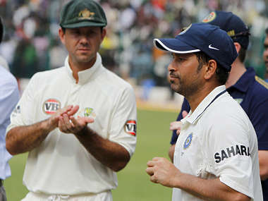 File photo of Ponting and Tendulkar. Reuters