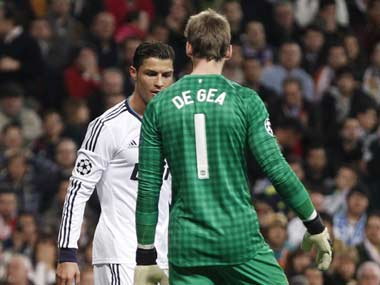 Ronaldo managed to beat De Gea just once. Reuters