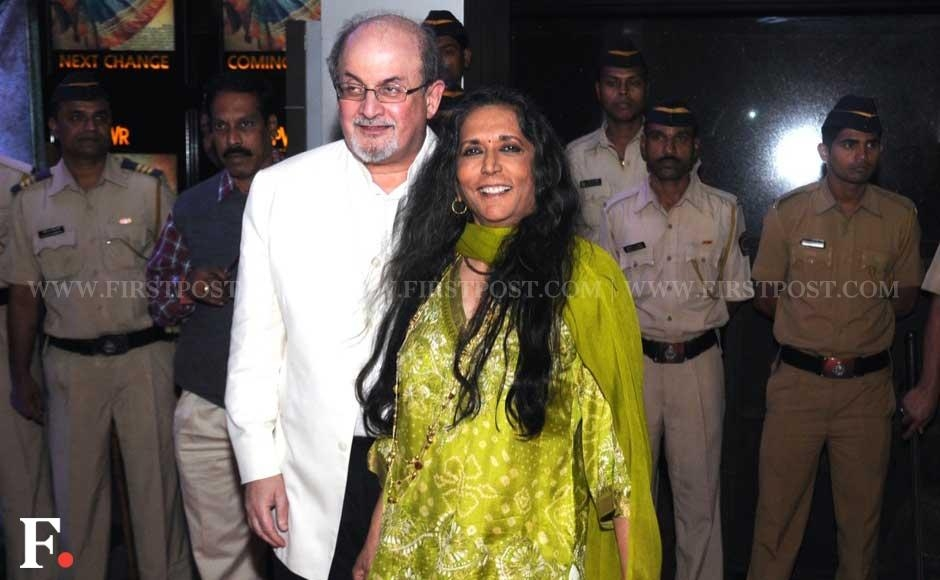 Salman Rushdie and Deepa Mehta at the premiere of Midnight's Children. Sachin Gokhale/Firstpost