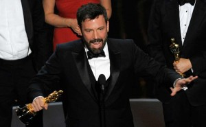 "Director/producer Ben Affleck accepts the award for best picture for ""Argo"" during the Oscars at the Dolby Theatre on Sunday Feb. 24, 2013, in Los Angeles. AP"