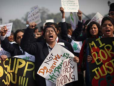 Protests against Delhi gangrape. AP