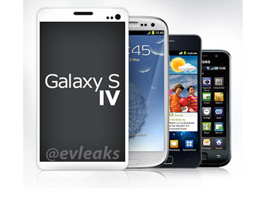The Samsung Galaxy SIV. Image from evleaks' Twitter handle.