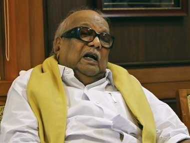 DMK head M Karunanidhi. Reuters