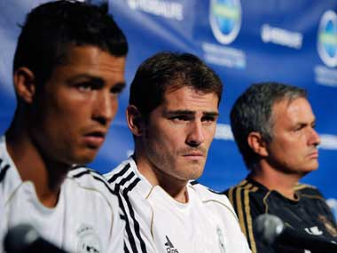 Ronaldo, Casillas and Mourinho welcome home Galatasaray tonight. Getty Images