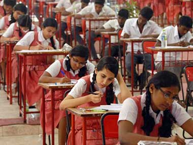 File photo of students giving exams in Chennai.