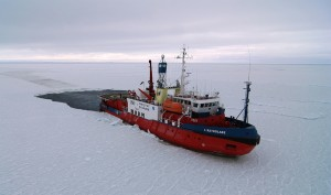 The ice breaker L'Astrolabe is seen in the Antarctic sea in this undated handout photo. L'Astrolabe will depart on Friday for a two-month expedition to help restore Sir Douglas Mawson's huts in Commonwealth Bay in the Antarctic.