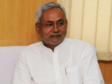 Bihar Chief Minister Nitish Kumar. Image courtesy PIB