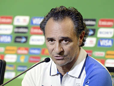taly Coach, Cesare Prandelli speaks to the media prior to the Italian Training Session at Estadio Octavio Mangabeira. Getty Images