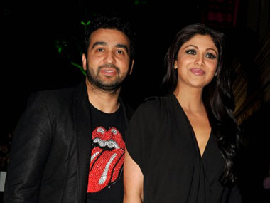 Raj Kundra and Shilpa Shetty. AFP