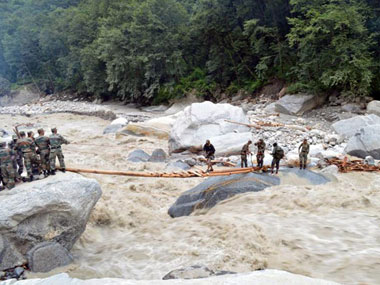 Rescue operations at Uttarakhand. AFP.