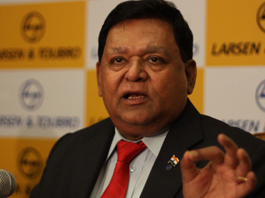 File photo of AM Naik.