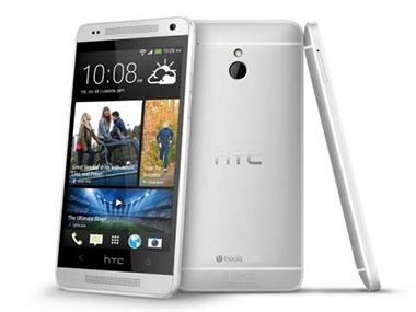 HTC One mini in this product photo.