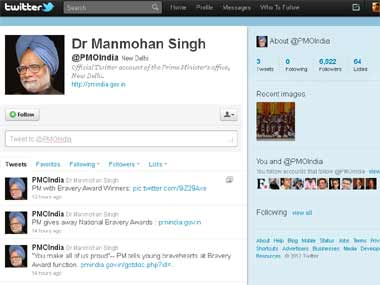 Screengrab of the PMO India twitter handle