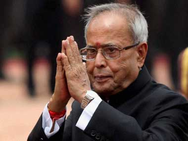 Pranab Mukherjee in this file photo. PTI