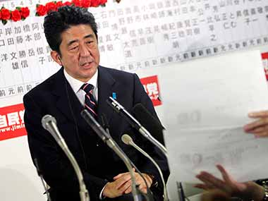 Japan PM Shinzo Abe. AP