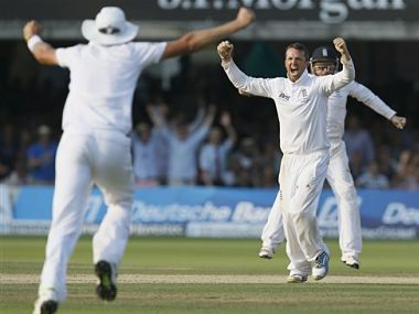 Swann had a brilliant match with the ball. AP