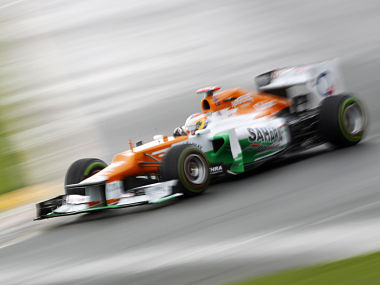 Force India had both their cars in the points at a controversial Silverstone race punctuated by tyre failures. Reuters