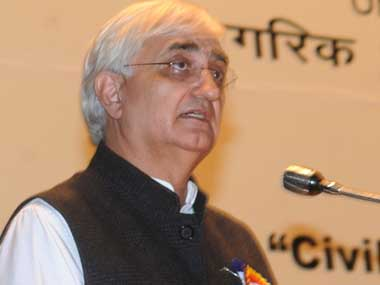 External Affairs Minister Salman Khurshid. Image courtesy PIB