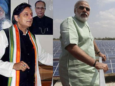 Shashi Tharoor and Narendra Modi. Agencies.