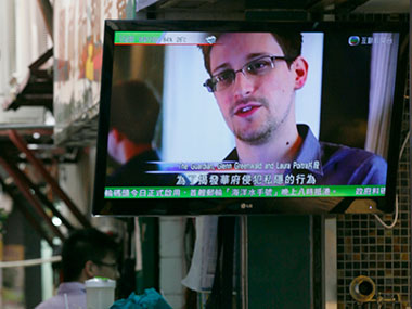 Whistleblower Edward Snowden. AP