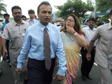 Anil and Tina Ambani. Reuters