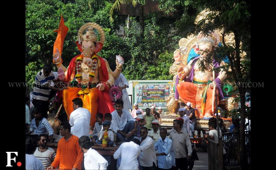 With the Ganesh Chaturthi just around the corner, huge Ganesha idols have been spotted across Mumbai. Sachin Gokhale/Firstpost