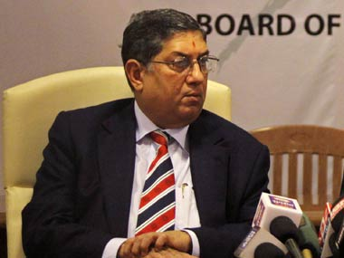 Only India's Supreme Court stands between N Srinivasan and taking control of the BCCI. Reuters
