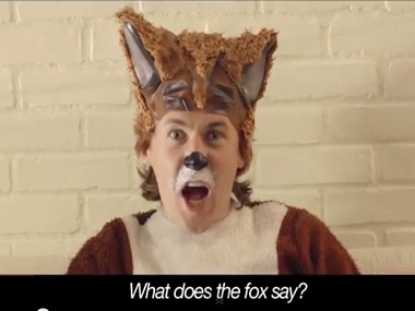 A screengrab from The Fox music video. Image courtesy Youtube.