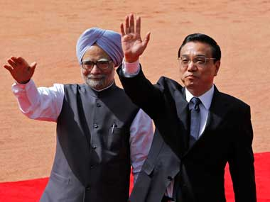 Prime Minister Manmohan Singh and his Chinese counterpart Li Keqiang