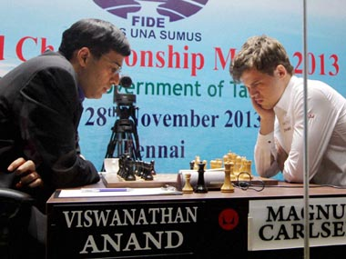 World Chess C'ship Game Three: Anand, with black, gives Carlsen a scare