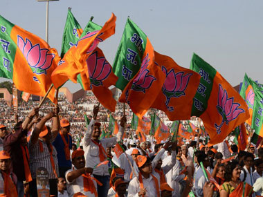 BJP flags are seen in this file photo. AFP