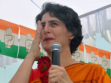Priyanka's defence of her husband doesn't do the Congress any favours. PTI