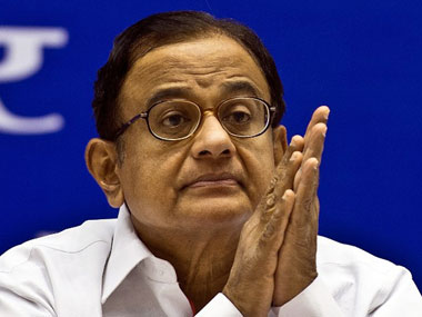 Former Union Home Minister P Chidambaram. AFP