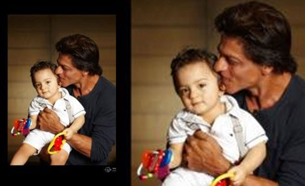 Photo of Shah Rukh Khan & his  Son  AbRam Khan