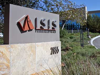 This photo shows signage outside the headquarters building of Isis Pharmaceuticals Inc. in Carlsbad, California. AP