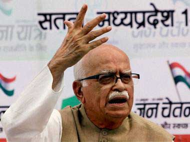 Veteran BJP leader LK Advani. PTI