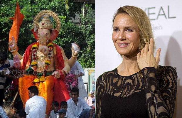 An idol of Ganesha and Renee Zellweger.