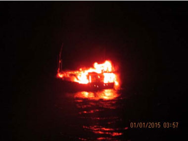 The suspected boat. Image courtesy PIB