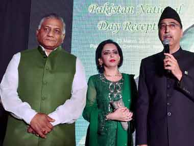 VK Singh at the Pakistan National Day celebrations. PTI image