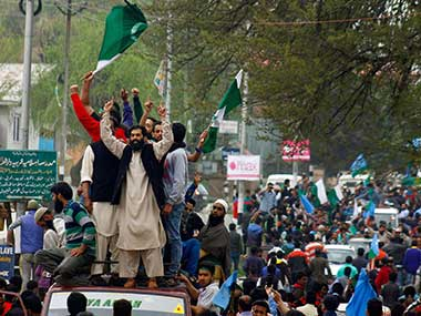 Scenes from the rally yesterday: PTI