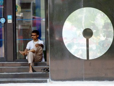 The SBI logo. Reuters